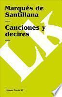 libro Canciones Y Decires