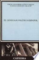 libro El Lenguaje Político Español