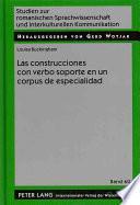 libro Las Construcciones Con Verbo Soporte En Un Corpus De Especialidad