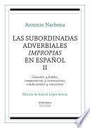 libro Las Subordinadas Adverbiales Impropias En Español. Ii