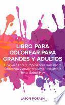 libro Libro Para Colorear Para Grandes Y Adultos