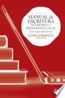 libro Manual De Escritura Académica Y Profesional