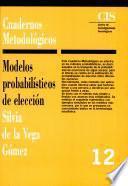 libro Modelos Probabilísticos De Elección