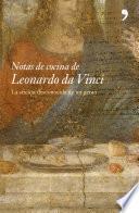 libro Notas De Cocina De Leonardo Da Vinci