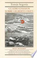 libro Cuatro Ensayos Sobre Gilberto Owen