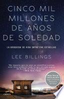 libro Cinco Mil Millones De Años De Soledad
