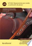 libro Reparaciones Por Cosido Y Sustitución De Piezas. Tcpc0109