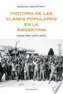 libro Historia De Las Clases Populares En La Argentina