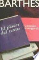 libro El Placer Del Texto ; Y Lección Inaugural