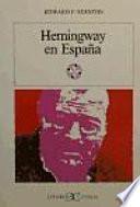 libro Hemingway En España