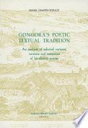 Gongora S Poetic Textual Tradition