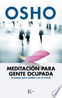 libro Meditación Para Gente Ocupada