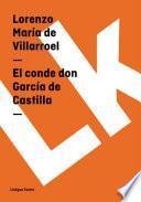 libro El Conde Don García De Castilla