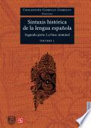 Sintaxis Histórica De La Lengua Española
