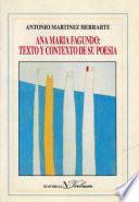 libro Ana María Fagundo: Texto Y Contexto De Su Poesía