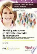libro Análisis Y Actuaciones En Diferentes Contextos De Intervención