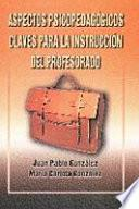 libro Aspectos Psicopedagógicos Claves Para La Instrucción Del Profesorado