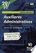 libro Auxiliares Administrativos De La Junta De Andalucía. Volumen 2