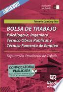 Bolsa De Trabajo. Psicólogo/a, Ingeniero Técnico Obras Públicas Y Técnico Fomento Empleo