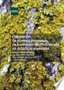 libro ElaboraciÓn De Planes Y Programas De FormaciÓn Del Profesorado En DidÁcticas Especiales