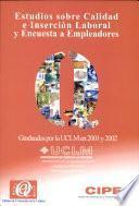 libro Estudios Sobre Calidad E Inserción Laboral Y Encuesta A Empleadores