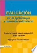 libro Evaluación De Los Aprendizajes Y Desarrollo Institucional
