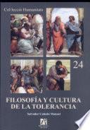 libro Filosofía Y Cultura De La Tolerancia