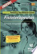 libro Fisioterapeutas. Temario Y Test Materia Común. Servicio Aragonés De Salud