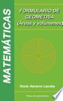 libro Formulario De Geometría (áreas Y Volúmenes)