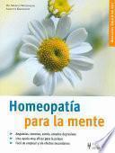 libro Homeopatía Para La Mente