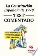 La Constitución Española De 1978. Test Comentado