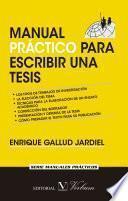 libro Manual Práctico Para Escribir Una Tesis