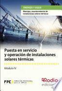 libro Puesta En Servicio Y Operación De Instalaciones Solares Térmicas. Energía Y Agua
