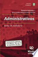 libro Temario Volumen 1. Administrativos De La Junta De Andalucía. Jurídico Administrativa General