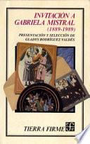 libro Invitación A Gabriela Mistral (1889 1989)