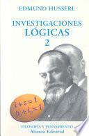 libro Investigaciones Lógicas