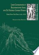 Liber Generationis Et Regenerationis Adam, Sive De Historia Generis Hvmani