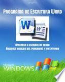 Manual De Programa De Escritura Word