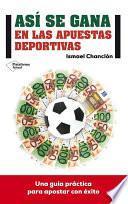 libro Así Se Gana En Las Apuestas Deportivas