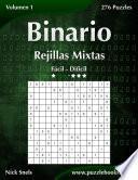 libro Binario Rejillas Mixtas   De Fácil A Difícil   Volumen 1   276 Puzzles