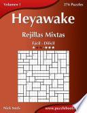 Heyawake Rejillas Mixtas   De Fácil A Difícil   Volumen 1   276 Puzzles