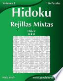 libro Hidoku Rejillas Mixtas   Difícil   Volumen 4   156 Puzzles