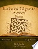 libro Kakuro Gigante 22x22 Deluxe   Volumen 4   249 Puzzles