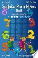 Sudoku Clásico Para Niños 9x9   De Fácil A Experto   Volumen 8   145 Puzzles