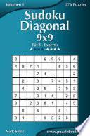 libro Sudoku Diagonal 9x9   De Fácil A Experto   Volumen 1   276 Puzzles