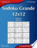libro Sudoku Grande 12x12   Experto   Volumen 19   276 Puzzles