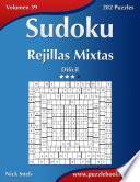 libro Sudoku Rejillas Mixtas   Difícil   Volumen 39   282 Puzzles