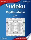 libro Sudoku Rejillas Mixtas   Fácil   Volumen 37   282 Puzzles