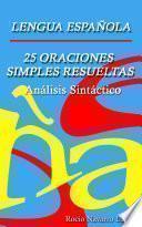 25 Análisis Sintácticos De Oraciones Simples