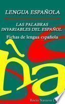 Las Palabras Invariables Del Español